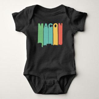 Body Para Bebê Skyline retro de Macon Geórgia do estilo dos anos