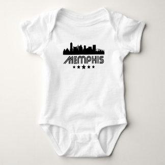 Body Para Bebê Skyline retro de Memphis
