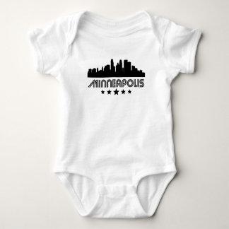 Body Para Bebê Skyline retro de Minneapolis