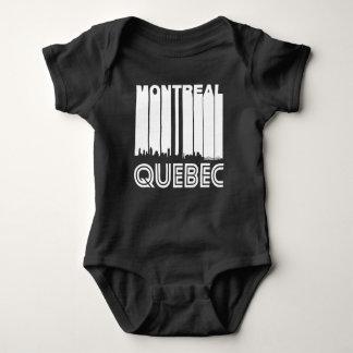 Body Para Bebê Skyline retro de Montreal Quebeque Canadá