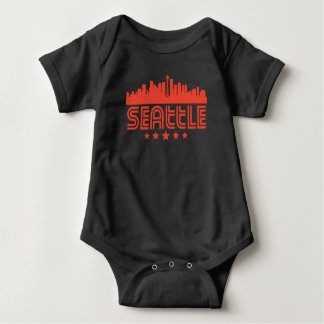 Body Para Bebê Skyline retro de Seattle