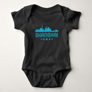 Body Para Bebê Skyline retro de Shanghai