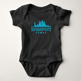 Body Para Bebê Skyline retro de Singapore