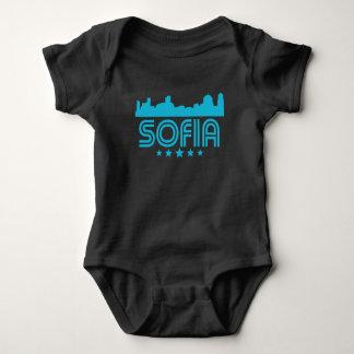 Body Para Bebê Skyline retro de Sófia