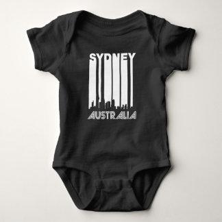 Body Para Bebê Skyline retro de Sydney
