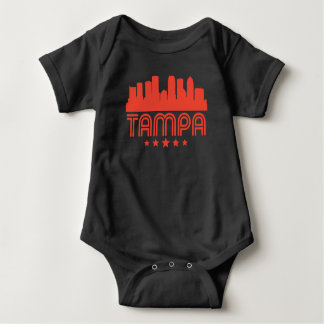 Body Para Bebê Skyline retro de Tampa