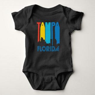 Body Para Bebê Skyline retro de Tampa Florida do estilo dos anos