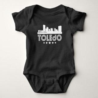 Body Para Bebê Skyline retro de Toledo