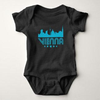 Body Para Bebê Skyline retro de Viena