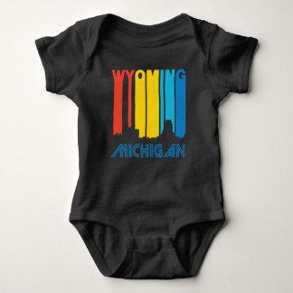 Body Para Bebê Skyline retro de Wyoming Michigan do estilo dos