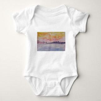 Body Para Bebê Skyline San Francisco da área da baía com ponte de