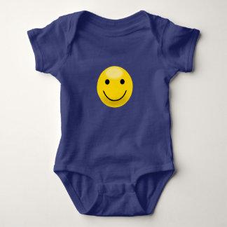 Body Para Bebê Smiley face amarelo