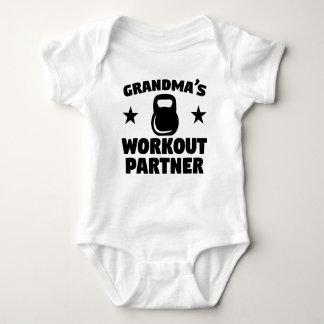 Body Para Bebê Sócio do exercício da avó