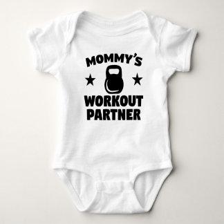 Body Para Bebê Sócio do exercício da mamã