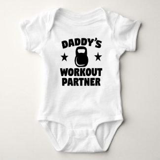 Body Para Bebê Sócio do exercício do pai