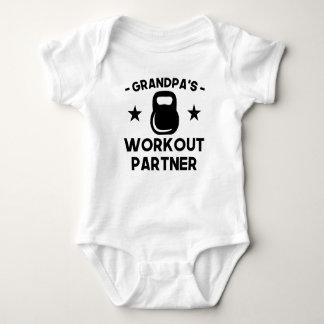 Body Para Bebê Sócio do exercício do vovô