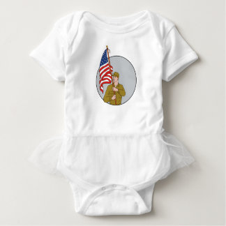 Body Para Bebê Soldado americano que guardara o desenho do