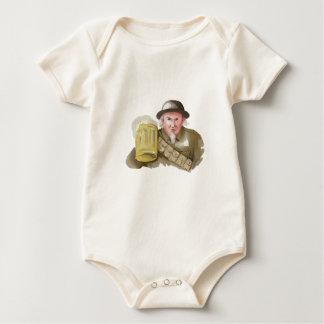 Body Para Bebê Soldado do tio Sam WW1 que brinda a aguarela da