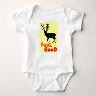 Body Para Bebê Sombra dos cervos da sensação boa