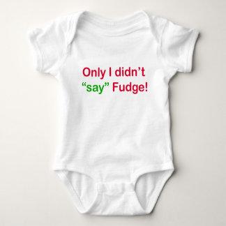 Body Para Bebê Somente eu não disse o Bodysuit do jérsei do bebê