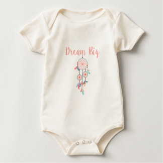 Body Para Bebê Sonho-Grande-Dreamcatcher-pêssego