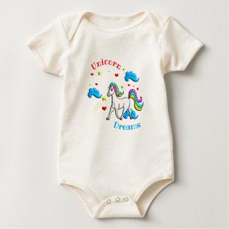 Body Para Bebê Sonhos do unicórnio