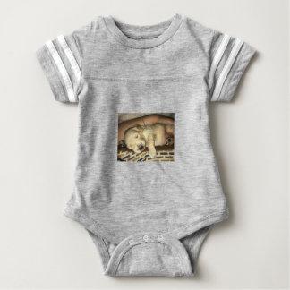 Body Para Bebê Sono dourado do filhote de cachorro do Doodle