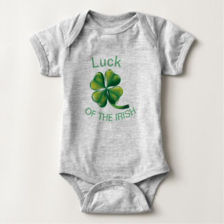 Body Para Bebê Sorte do bebê irlandês!
