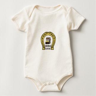 Body Para Bebê sorte dobro dos entalhes yeah