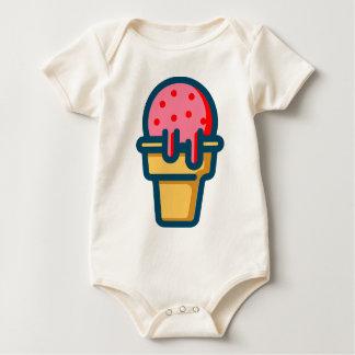 Body Para Bebê Sorvete de derretimento