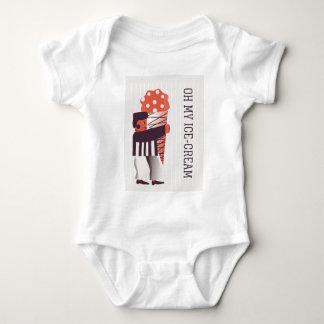 Body Para Bebê Sorvete feliz da Vida