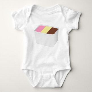 Body Para Bebê Sorvete napolitana