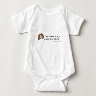 Body Para Bebê spaniel de rei Charles descuidado