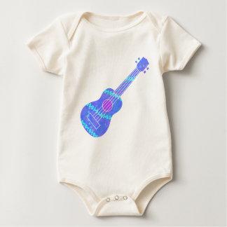 Body Para Bebê Spatter azul da pintura do Ukulele