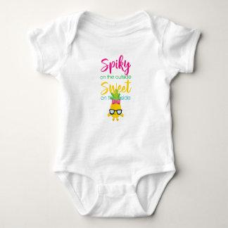 Body Para Bebê Spiky no doce da parte externa no interior