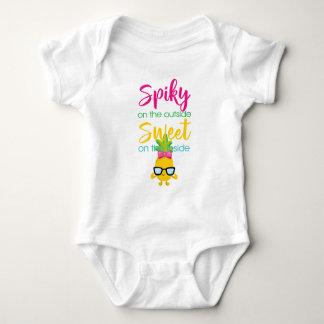 Body Para Bebê Spiky no doce da parte externa sobre para dentro