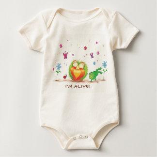 Body Para Bebê Sprout orgânico VIVO! bodysuit