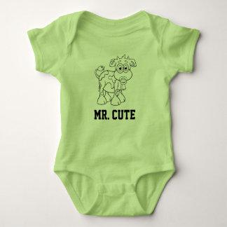 Body Para Bebê Sr. Bonito - menino da vaca do bebê com Pacifier -