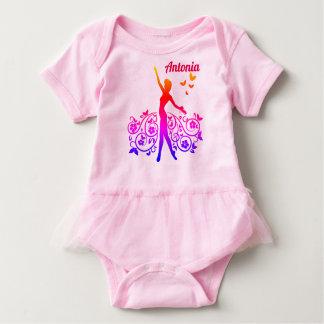 Body Para Bebê Strampler com bailarina, personalizante