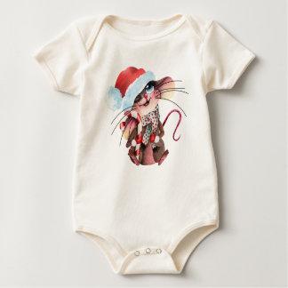 Body Para Bebê Strampler doce para Weihnachtsmäuse