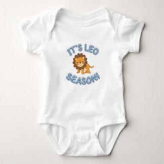 Body Para Bebê Sua estação de Leo! Bodysuit do bebê (azul)