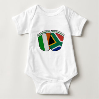 Body Para Bebê Sul - crachás africanos & irlandeses da amizade da