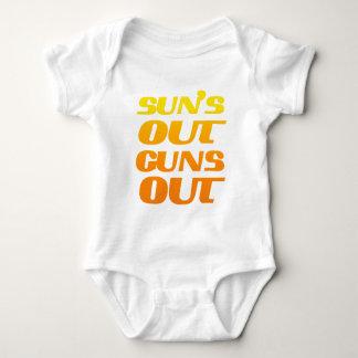 Body Para Bebê Sun para fora atira para fora na malhação e no gym
