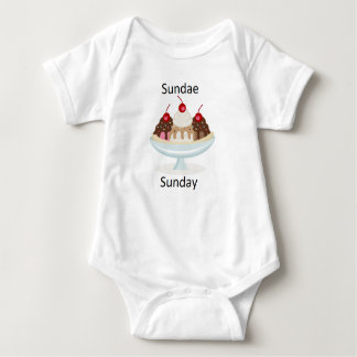 Body Para Bebê sundae domingo