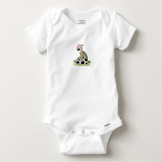 Body Para Bebê suporte feliz do cão do futebol dos vermelhos