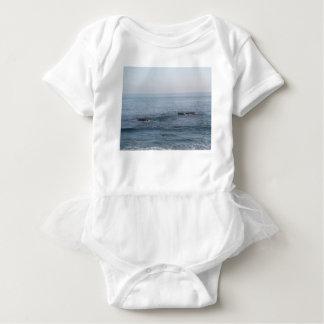 Body Para Bebê surfista solitário