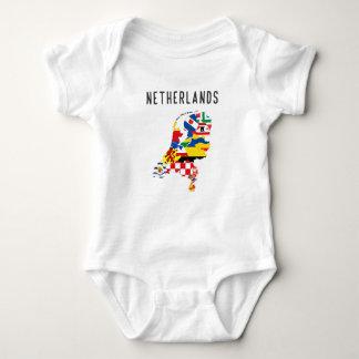 Body Para Bebê Symb holandês do mapa da bandeira da província das