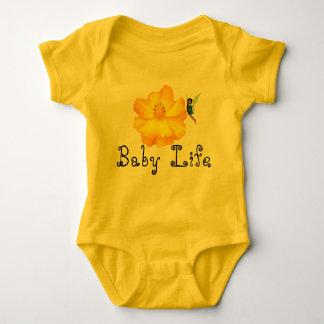 Body Para Bebê T agarrado flor da vida do bebê
