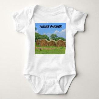 Body Para Bebê T-Camisa infantil do dorminhoco do fazendeiro