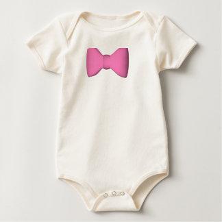 Body Para Bebê T cor-de-rosa do bebê do laço